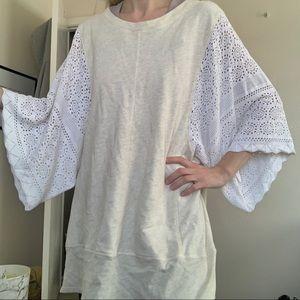 Akemi & Kin Anthro Crochet Sleeve Tunic Top